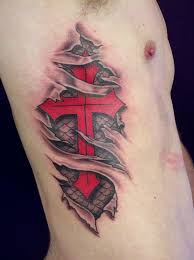 torn ripped skin cover up tattoos