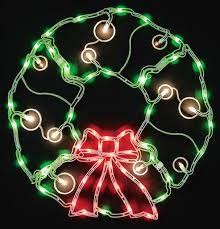 outdoor lighted wreath great spirit