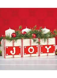 ribbon wrapped joy cubes diy holiday decorations holiday
