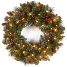 christmas wreaths christmas wreaths u0026 garland the home depot