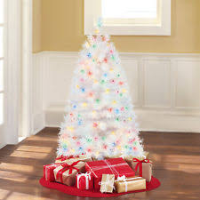 time pre lit 4 indiana tree white multi colored