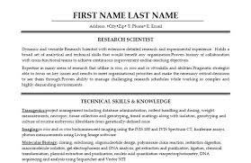 Biologist Resume Sample by Professional Equity Research Associate Resume Recentresumes Com