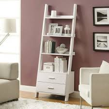 White Leaning Bookshelves by The Different Styles Of A Ladder Bookshelf