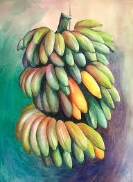 cuban bananas w c 808 bananas in lichee tree acrylic 808a