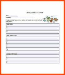 potluck sign up sheet template sign up sheets potluck sign up