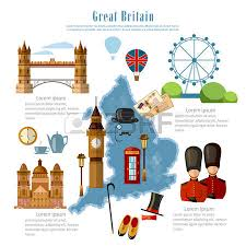 great britain infographics sights culture traditions