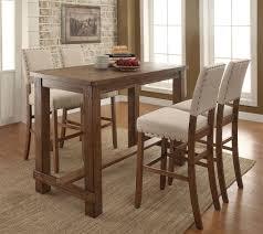 table set transitional style 5 pcs natural tone finish dining