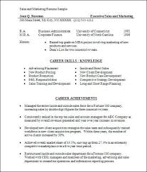 Free Marketing Resume Templates Resume Samples For Sales And Marketing Basic Sales And Marketing