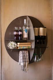 round metal wall wine bar living room reno inspo pinterest
