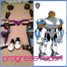 Teen Titans Halloween Costumes Teen Titans Cyborg Costume Progress Report