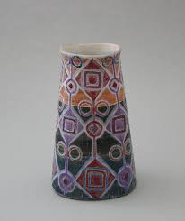 Hand Painted Vase Hand Painted Vase Design Gunnar Iso Puonti Kupittaa Clay