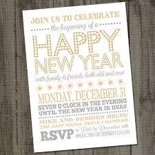 new year invitation light and bright happy new year card printable party
