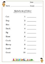 arrange the names of domestic animals in alphabetical order