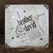 engraved wedding gifts personalized square wedding gift charger