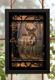 Whitetail Deer Home Decor by Woodland Mist Whitetail Deer Stained Glass Art Wild Wings