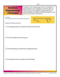 sentence diagramming participles worksheets