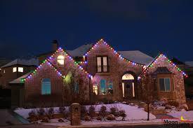 moon light holiday lighting multi colored led roofline