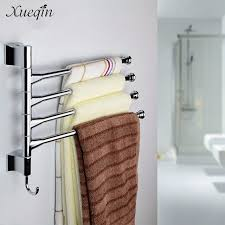 Bathroom Towel Shelves Wall Mounted Xueqin Wall Mounted Bathroom Towel Rack Swivel 3 Lyer Towel