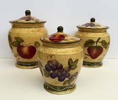 28 3 pcs 3d grape canister set kitchen decor vineyard wine 3