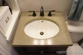 Diy Vanity Top Diy Concrete Countertop Naptime Diy