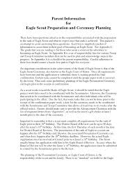 Eagle Scout Resume How To Write An Eagle Scout Letter Of Recommendation Choice Image