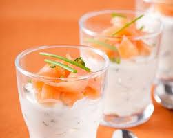 recette verrine au saumon fumé