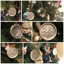 punched tin ornaments from canning jar lids