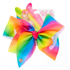 claires hair accessories jojo siwa large rainbow signature hair bow s us