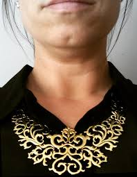 collar bib necklace images Brass filigree necklace adjustable collar necklace gold bib jpg