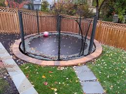 Best Backyard Trampoline by Flooring Expanse Green Grass With Cozy In Ground Trampoline And