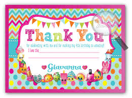 shopkins thank you cards di 694ty harrison greetings business