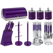 purple canisters for the kitchen purple kitchen knife sets morphy richards kitchen set bread bin