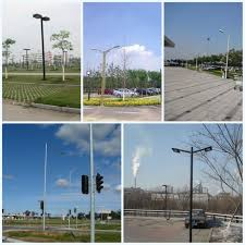 Backyard Light Pole Conical Tapered Parking Lot Light Pole Square Exterior Light Poles