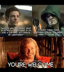 Funny Thor Memes - the flash the arrow and the thor meme by aya99 memedroid