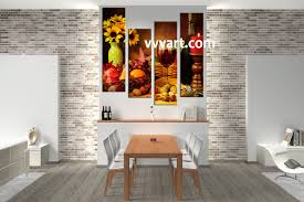 4 piece colorful canvas wine home decor wall art dining room art 4 piece canvas art prints kitchen canvas print home decor