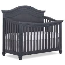 Gray Convertible Crib Weathered Gray 5 In 1 Curved Top Convertible Crib Rc