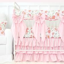 light pink crib bedding felicity s pink vintage floral bumperless crib bedding caden lane