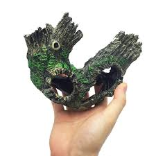 resin aquarium tree trunk driftwood decoration artificial hollow