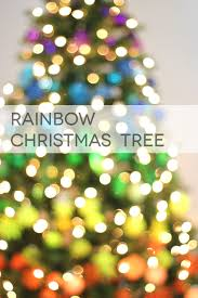 rainbow christmas tree lines across