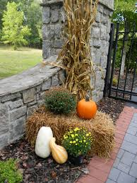 Outdoor Fall Decorations by A Toile Tale Outside Fall Decorating