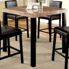 Faux Marble Top Dining Table Darcy Faux Marble Black Metal Counter Height Dining Table By