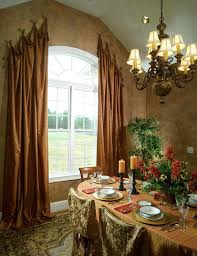 curtain ideas for dining room ways to hang curtains carpet table chairs window chandelier ceiling