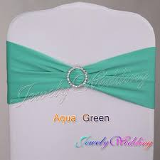 green chair covers chair sash aqua green lycra spandex chair bow with acrylic