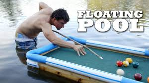 floating table for pool swim up bar floating pool table youtube