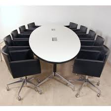 Eames Boardroom Table Original Oval Eames Boardroom Table With Segmented Base