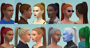 the sims 4 cc hair ponytail mod the sims ponytail braids cornrows for adults child to adult
