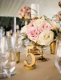 gold wedding table numbers painted wedding table numbers handmade table table numbers and number
