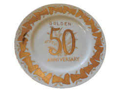 anniversary plates 50th anniversary vintage 50th anniversary gifts etsy