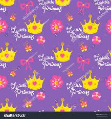 little princess pattern vector sweet stock vector 497121076
