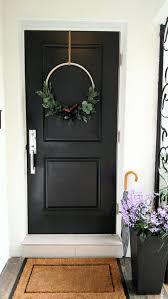 modern holiday door wreath u2013 jackie dici